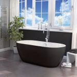 Marlo Bath 1655x750mm In Black & White Lifestyle