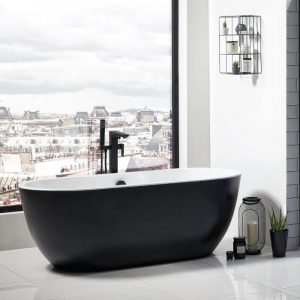 Marlo Bath 1655x750mm In Black & White