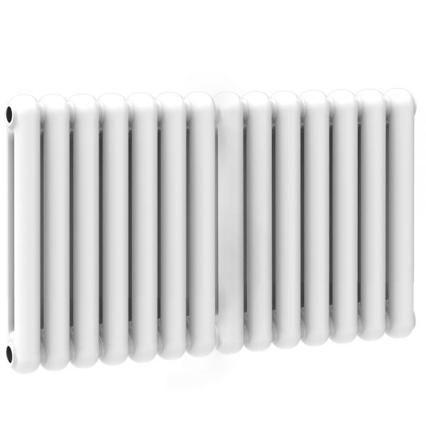 CN Contemp Double Horizontal White Column Radiators 450mm High