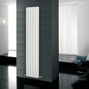 CN Contemp Double Vertical Double Heated Radiator In White