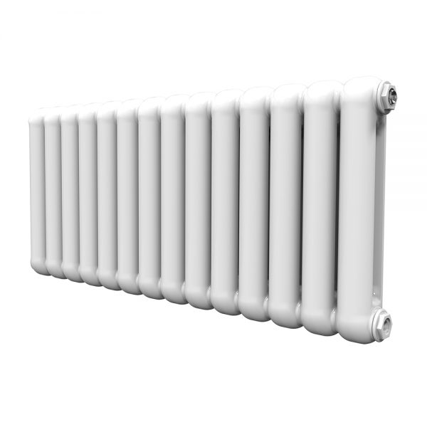 CN Contemp Double Horizontal Double Heated Radiator In White