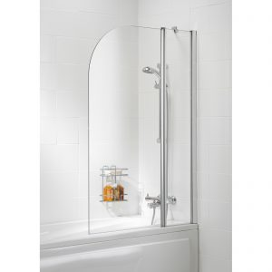 Bala Curved Double Bath Screen In Chrome