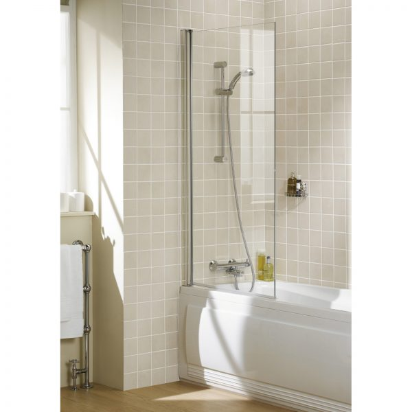 Bala Square Bath Screen In Chrome