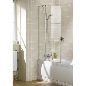 Bala Square Double Bath Screen In Chrome
