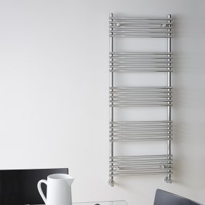 Sarah Straight Chrome Towel Rail 500 or 600 Wide Multiple Sizes