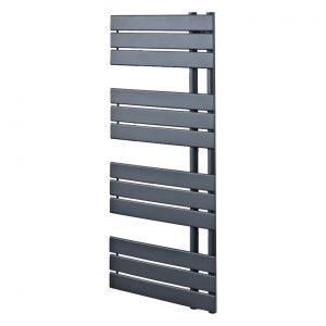 Scarlett Anthracite Designer Straight Towel Rail 500x800 & 500x1200mm