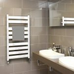 MD Designer Flat Straight Towel Rail 500 Wide White Multiple Heights