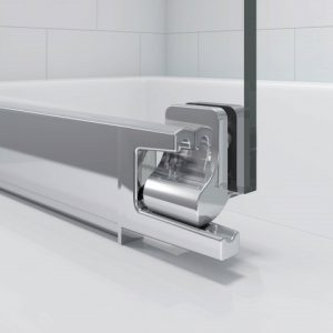 Merlyn Secure Seal 4 Folding Bath Screen In Chrome