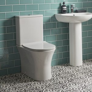 ESP Rimless Back To Wall Toilet & Soft Close Seat