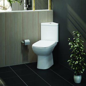 Orlando Corner Close Coupled Toilet & Soft Close Seat
