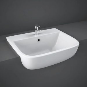 Serena 520mm Semi Recessed Basin 1 Tap hole