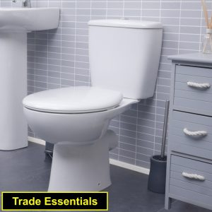 Smooth Toilet Close Coupled & Standard Seat