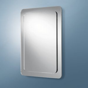 HiB Almo Mirror Rectangular With Curved Corners 400mm x 600mm