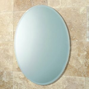 HiB Alfera Oval Mirror 540 x 420mm Landscape Or Portrait