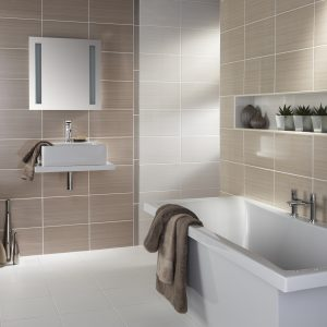 Bright Beige Wall bathroom tiles
