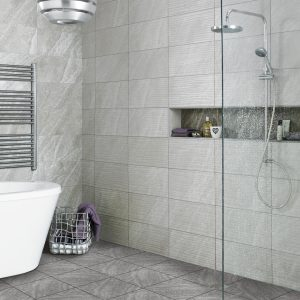 Diana Wave Grey Ceramic Wall Tiles 248X498 Tiles