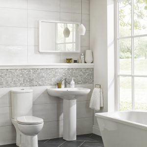 Eos Lustre Wall Bathroom Tiles white