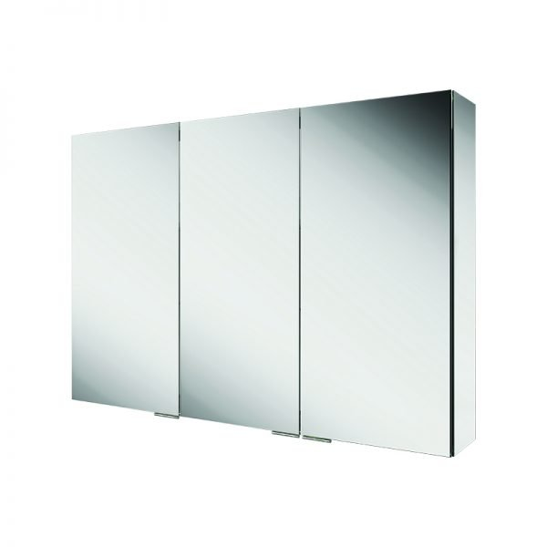 HIB Eris Triple Mirrored Cabinet Aluminium 1200 x 700mm