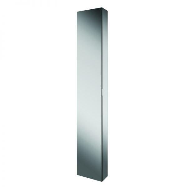HIB Eris Single Tall Mirrored Cabinet Aluminium 300 x 1700mm