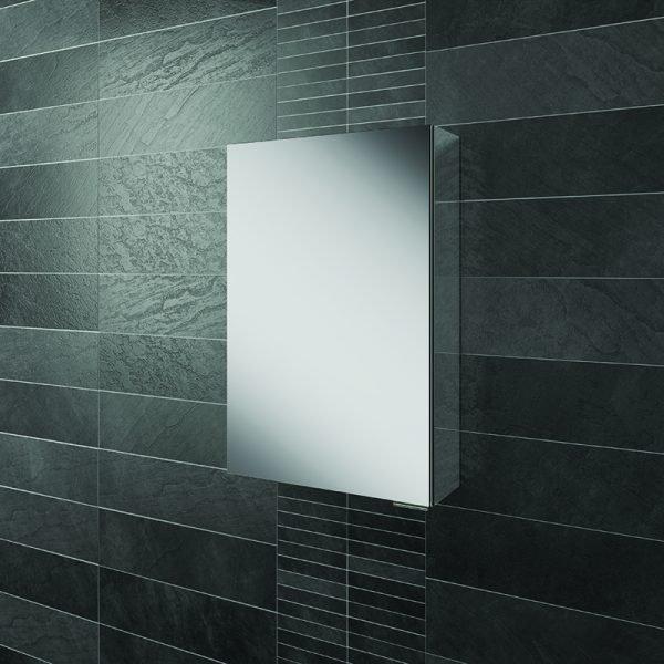 HIB Eris Single Mirrored Cabinet Aluminium 400 & 500mm