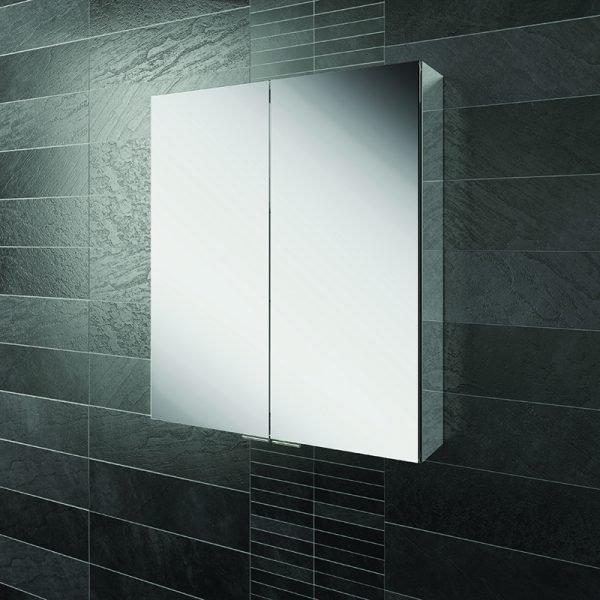 HIB Eris Double Mirrored Cabinet Aluminium 600 & 800mm