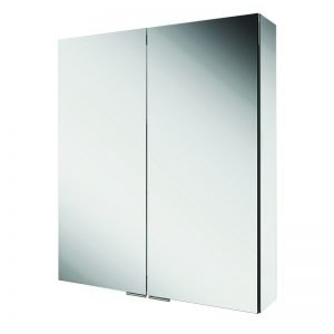 HIB Eris Double Mirrored Cabinet Aluminium 600 & 800mm