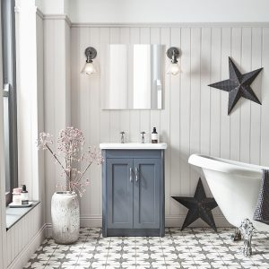 Harriet 500mm Floor Standing Vanity Unit & Basin In Three Colours