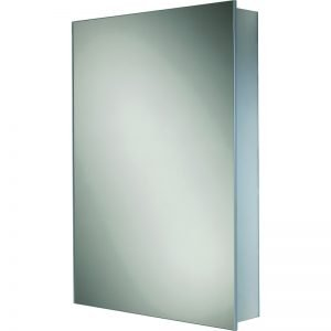 HIB Kore Slim Single Mirrored Cabinet Aluminium 400 x 600mm