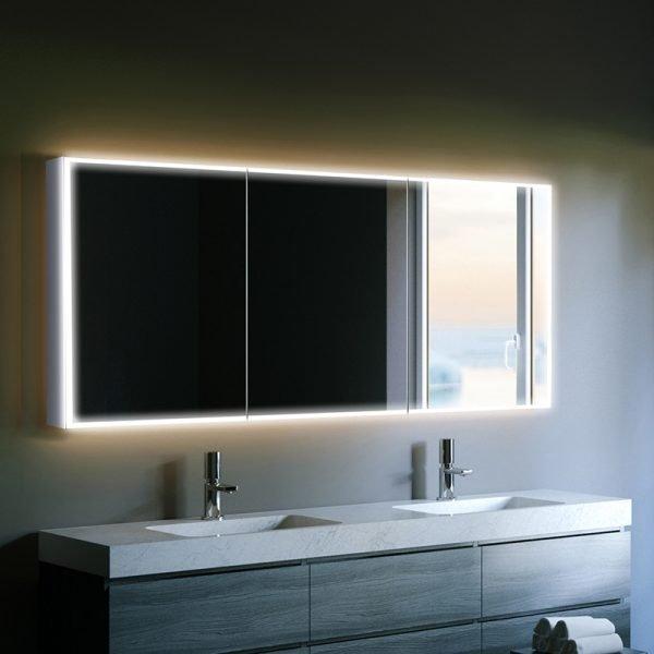 Astonishing Hib Qubic Led Illuminated Mirror Cabinet 1200 X 700Mm Home Interior And Landscaping Oversignezvosmurscom