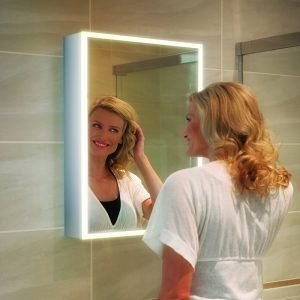 HIB Qubic LED Illuminated Mirror Cabinet 500 x 700mm