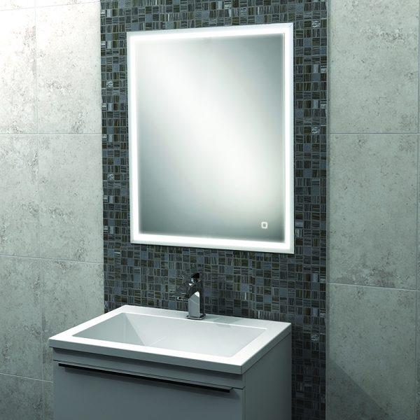 Hib Vanquish Led Illuminated Recessed Mirror Cabinet 500 X 730mm