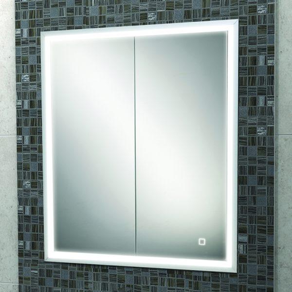 Hib Vanquish Led Recessed Mirror, Recessed Mirror Cabinet For Stud Walls