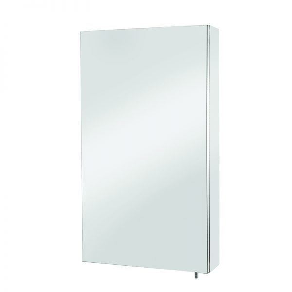 Colorado Single Mirrored Cabinet Stainless Steel 380 x 670mm