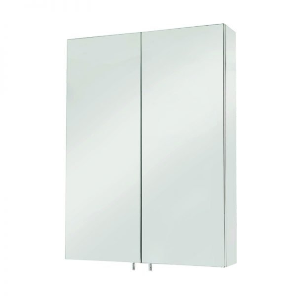 Anton Double Mirrored Cabinet Stainless Steel 500 x 670mm