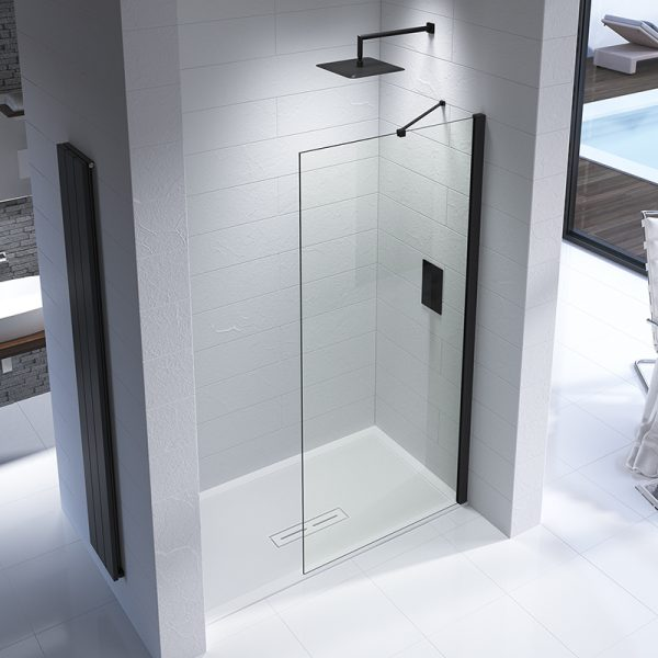 Black Edition Wetroom Panel 8mm Various sizes (8)