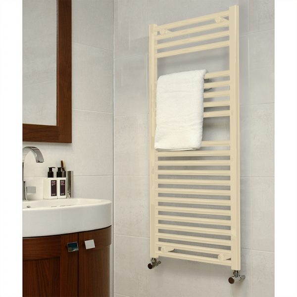 Towel Ladder Rail Deluxe Straight 25mm In Latte – Multiple Sizes Available