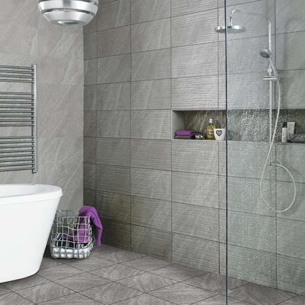 Ditto Wall & Floor Tiles 331X331 Tiles (Box of 9) Grey