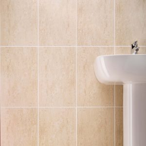 Travertino Wall Bathroom Tiles 250X400 Tiles (Box of 15) Dark Beige