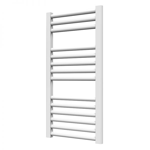 Towel Ladder Rail Deluxe Straight 25mm 400 Wide In White - Available in Multiple Heights