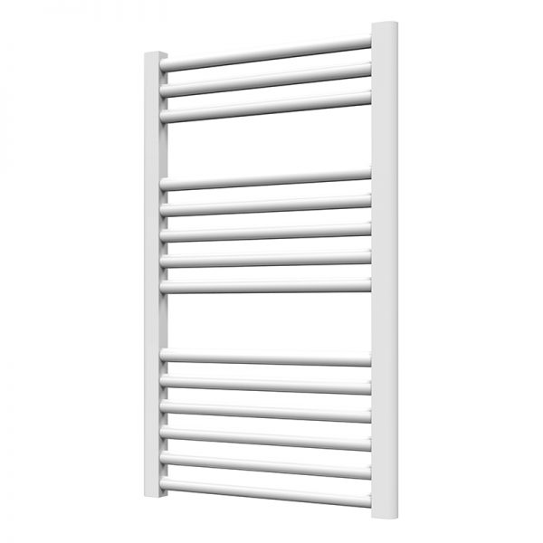 Towel Ladder Rail Deluxe Straight 25mm 500 Wide In White - Available in Multiple Heights