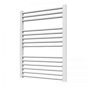 Towel Ladder Rail Deluxe Straight 25mm 600 Wide In White - Available in Multiple Heights