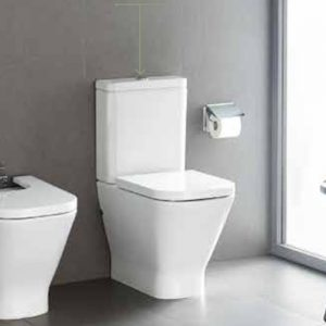 Roca Gap Close Coupled Toilet & Soft Close Seat
