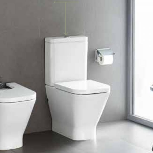 Roca Gap Close Coupled Toilet & Soft Close Seat