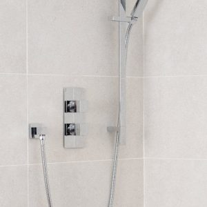 Square Deluxe Concealed Shower Valve Single Outlet In Chrome