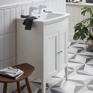 Blenheim Caversham 650mm Floor Standing Vanity Unit & Basin In Three Colours