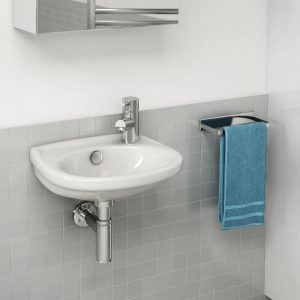 Delia Cloakroom Basin 1 Tap Hole 365mm