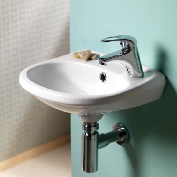 Delia Cloakroom Basin 1 Tap Hole 365mm