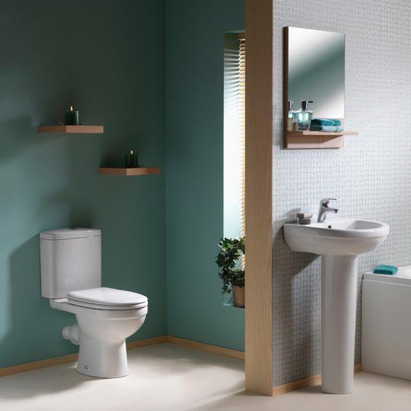 Delia Close Coupled Toilet & Soft Close Seat