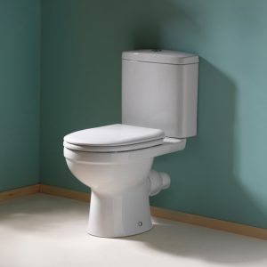 Delia Close Coupled Toilet & Soft Close Seat | Short Projection