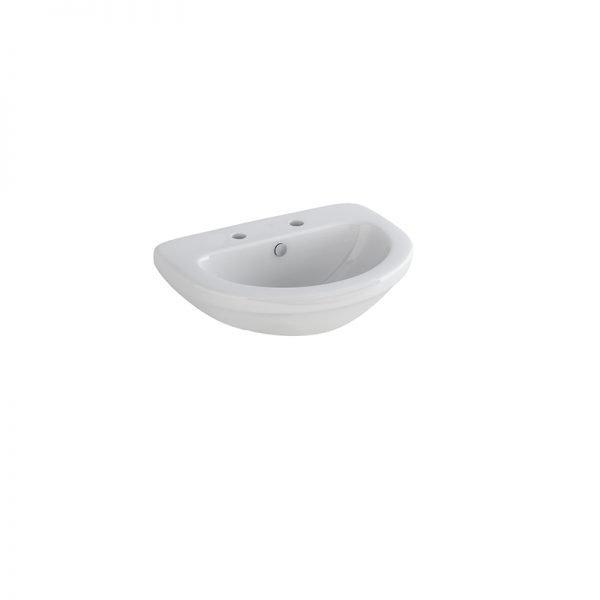 Delia 500mm Basin & Full Pedestal 1 Or 2 Tap hole